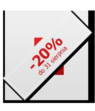 20% do 31 sierpnia